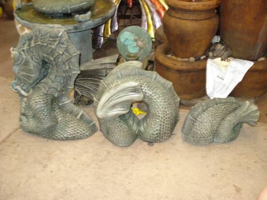 Zen garden accents for Little baja pottery
